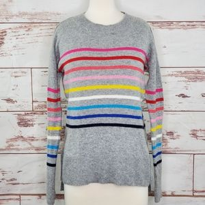 Crewneck Striped Sweater Gap Crazy Pullover XS